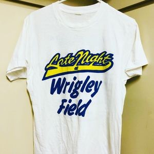 vintage 80's Chicago Cubs Late Night Wrigley L tee
